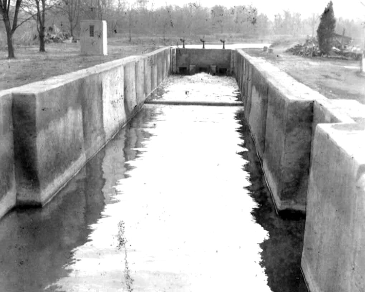 D&R Canal's Lock 8/Kingston after Rehabilation to Water Supply; c. 1942