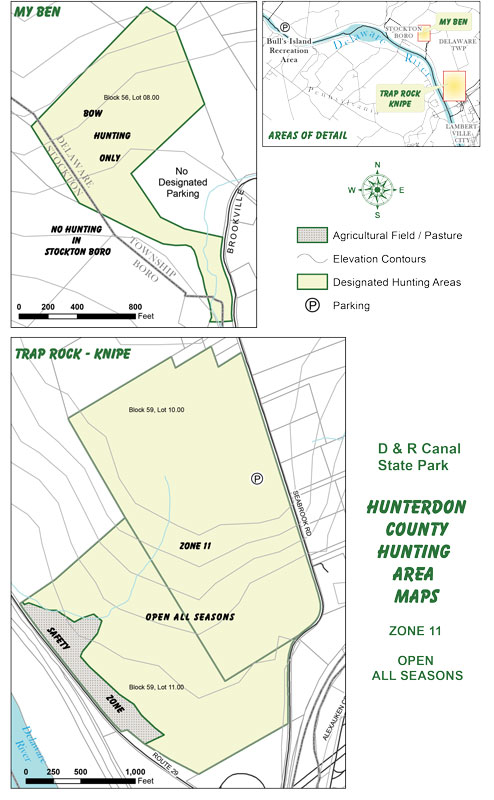 Hunterdon County Hunting Area Maps - Zone 11