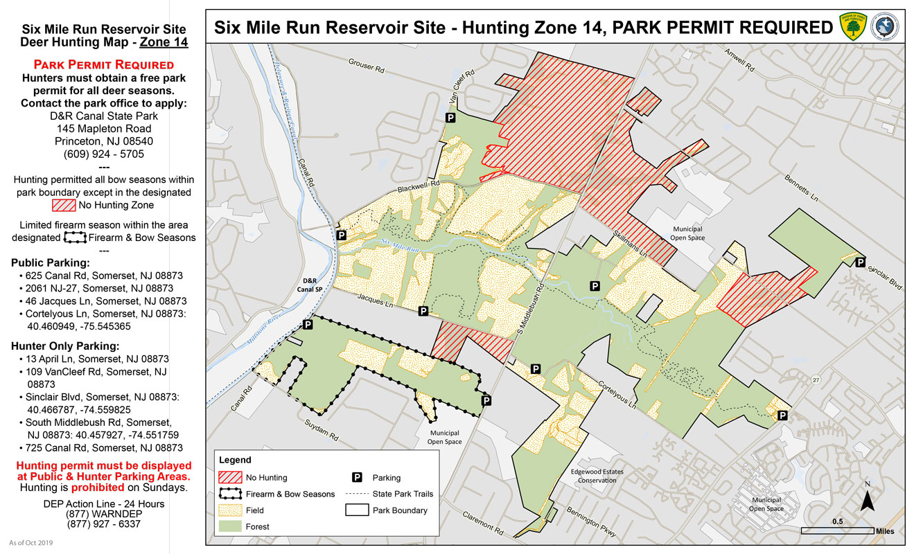 Six Mile Run Hunting Map